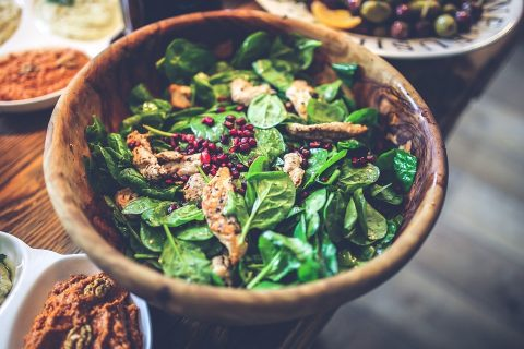 Chicken Greens Walnut Bowl- A High Fiber Diet for PCOS