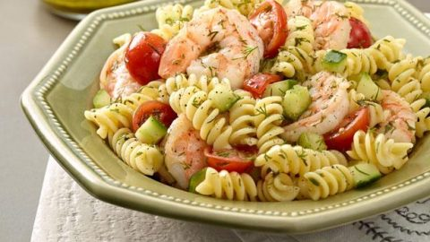 A Fishy Pasta Salad for PCOS