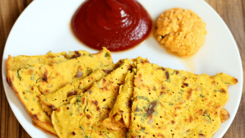 Besan Vegetable Pudla: Healthy Vegan Recipe for PCOS