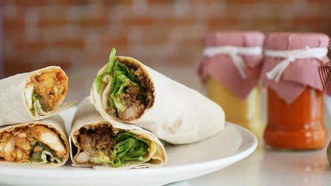 Healthy Vegetable bean Burrito