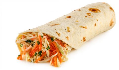 Healthy Protein roll with coleslaw