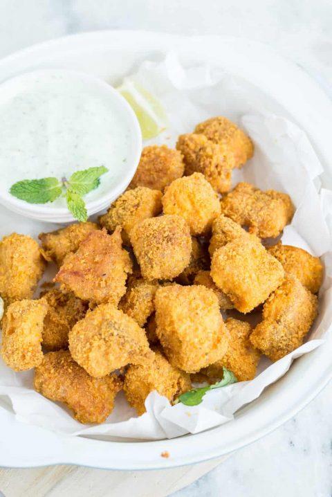 Vegetable fishy bites